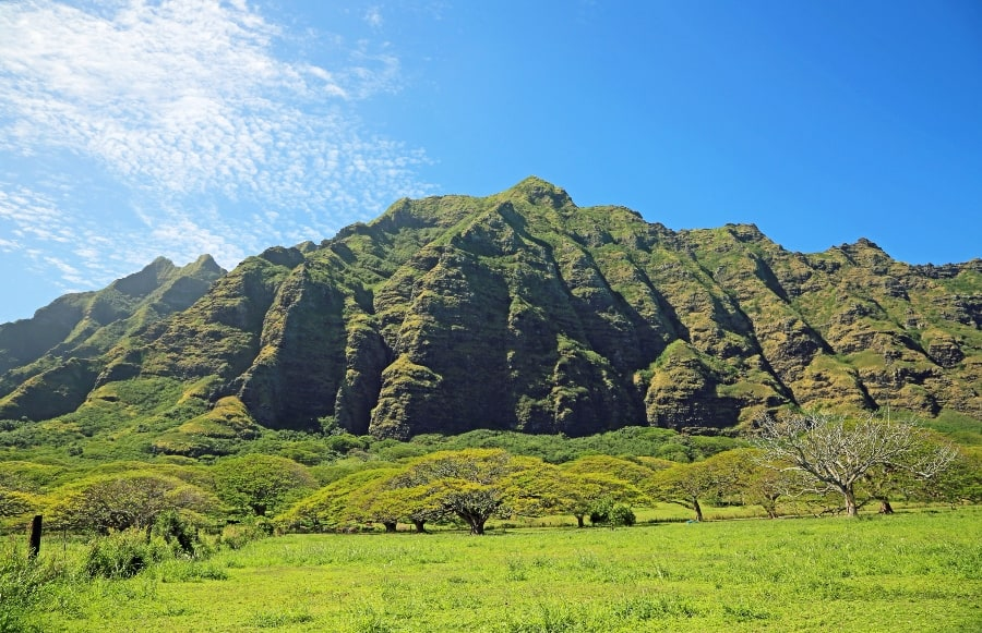 cliff at Kualoa Ranch
