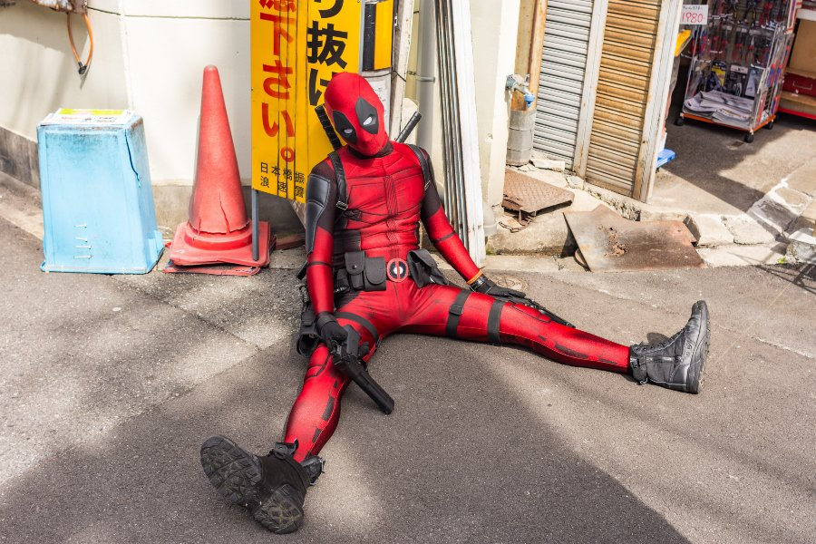 cosplayer in japanese street