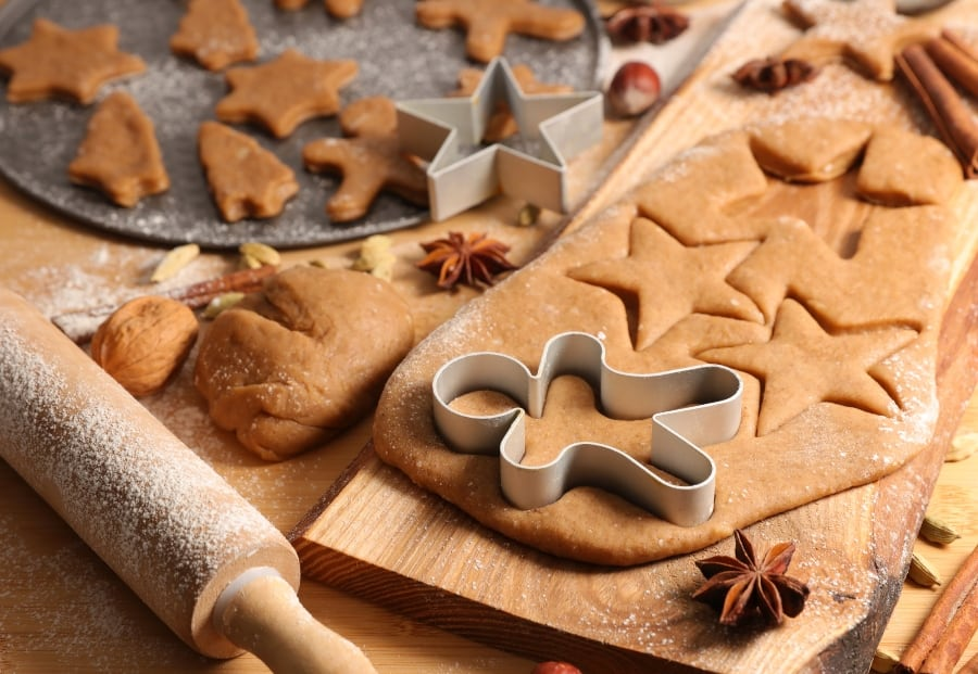 gingerbread cookies on table