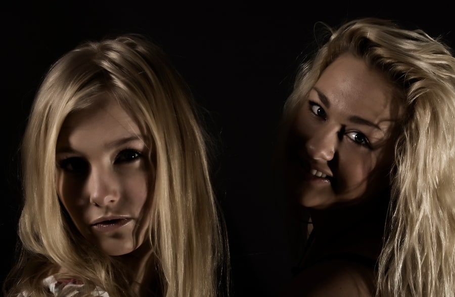 glamour portrait of two young women