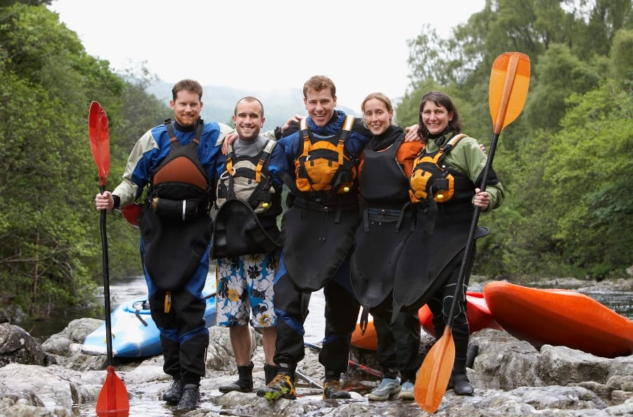 group portrait of kayakers