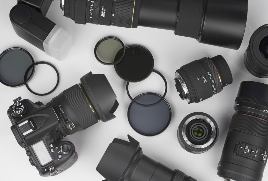 selection of lenses