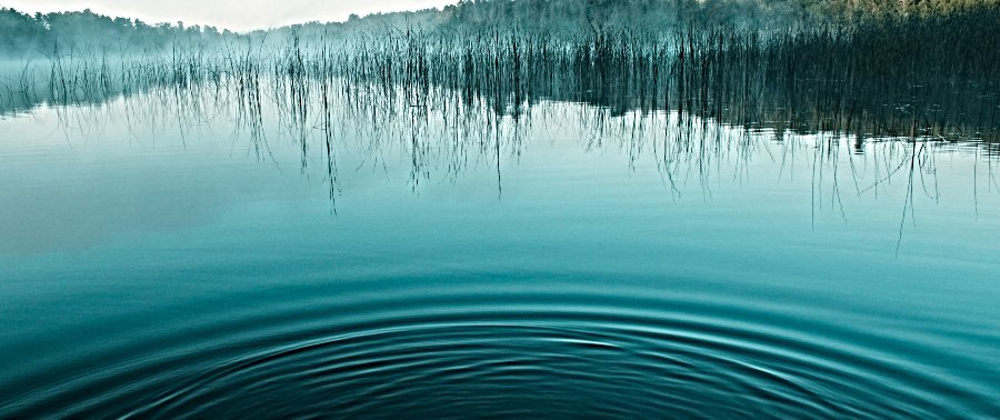 abstract photo of lake with ripples